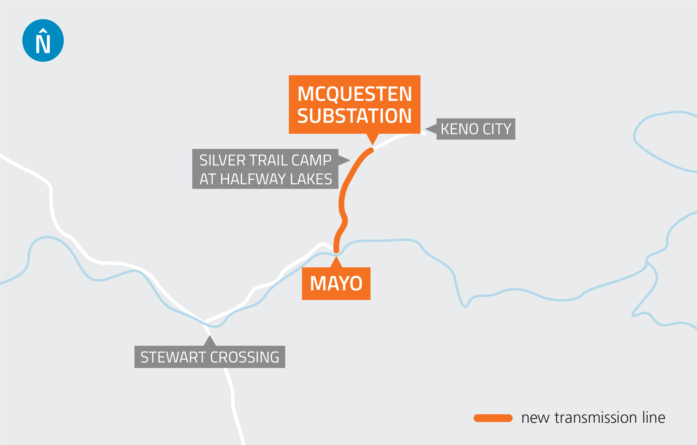 Mayo to McQuesten Map